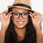 Glasses On Smiling Woman mobile lo