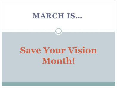 Save your vision month icon