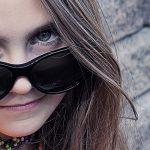 Girl wearing sunglasses in Hemlock and Saginaw, MI