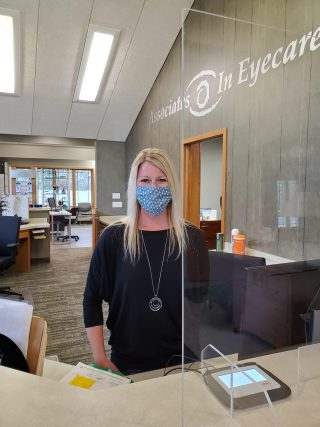 Everyone in our office wears a mask and PPE