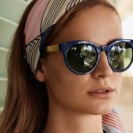 Tory Burch brand sunglasses on woman