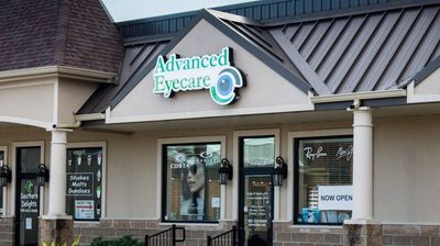 Outside of eye care clinic, Advanced Eyecare in Pearl River