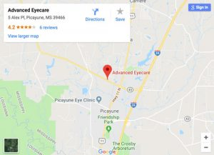 map of Advanced Eyecare - Picayune, click to open