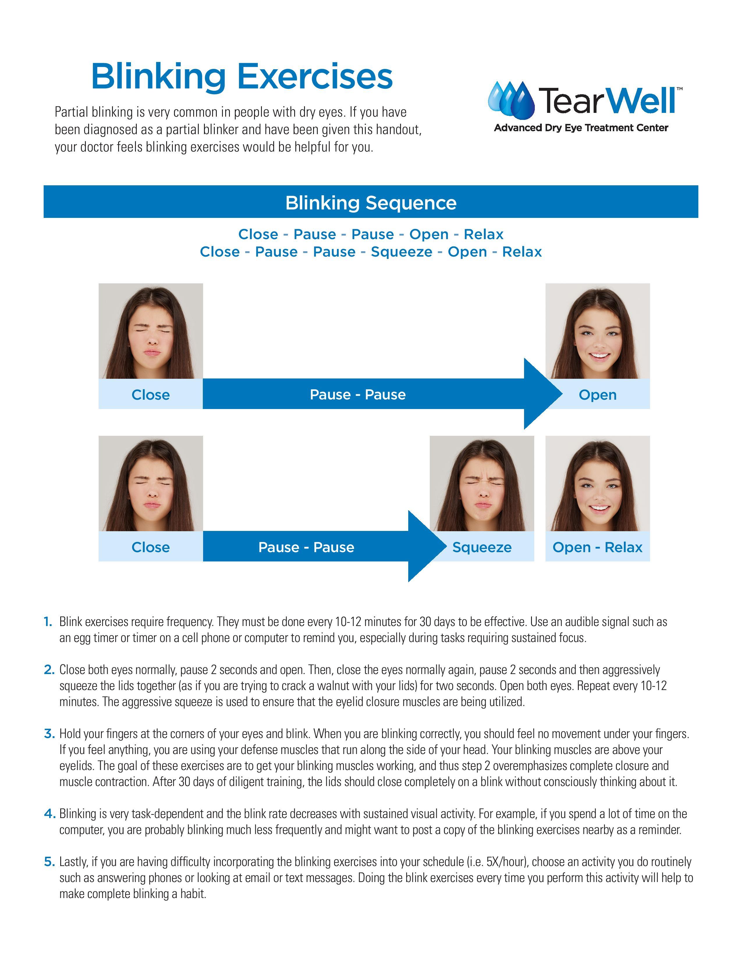Blinking Exercises, Optometrist, Irvine, CA