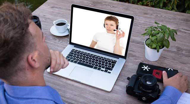boy at laptop in Irvine, California