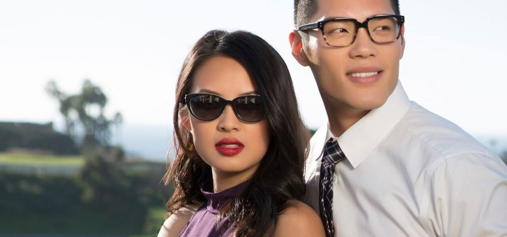 Asian Couple wearing TC Charton frames, Optometrist, Eye Care,  Milpitas, CA