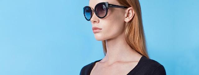 Eye doctor, woman wearing Diane Von Furstenberg sunglasses in Chula Vista, CA