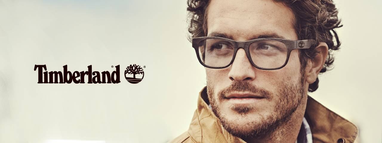 Timberland eyeglass add with handsome model