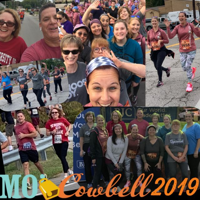 cowbell 2019 - Eye Care Staff running and having fun in Wentzville, MO