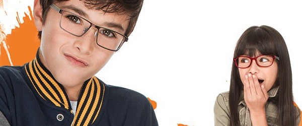 Kids wearing eyeglasses