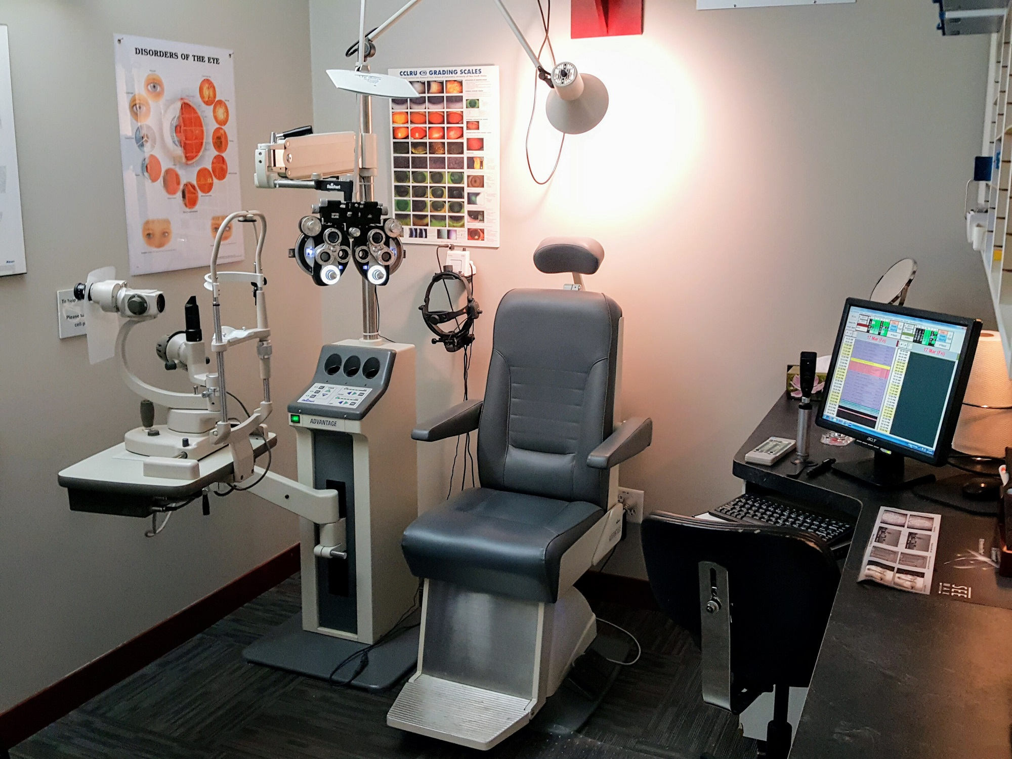 eye exam room