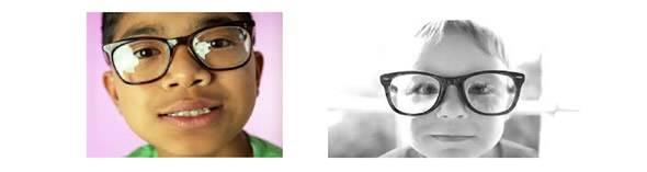 children in Calgary wearing eyeglasses