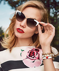 Eye care, Model wearing Kate Spade sunglasses in Calgary, CA