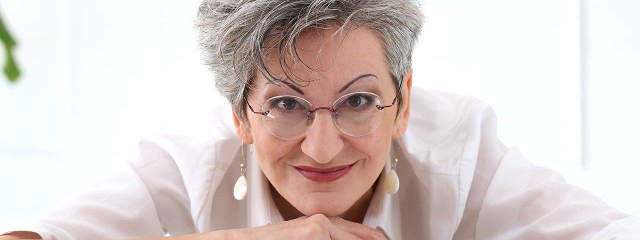 Woman wearing eyeglasses in Calgary