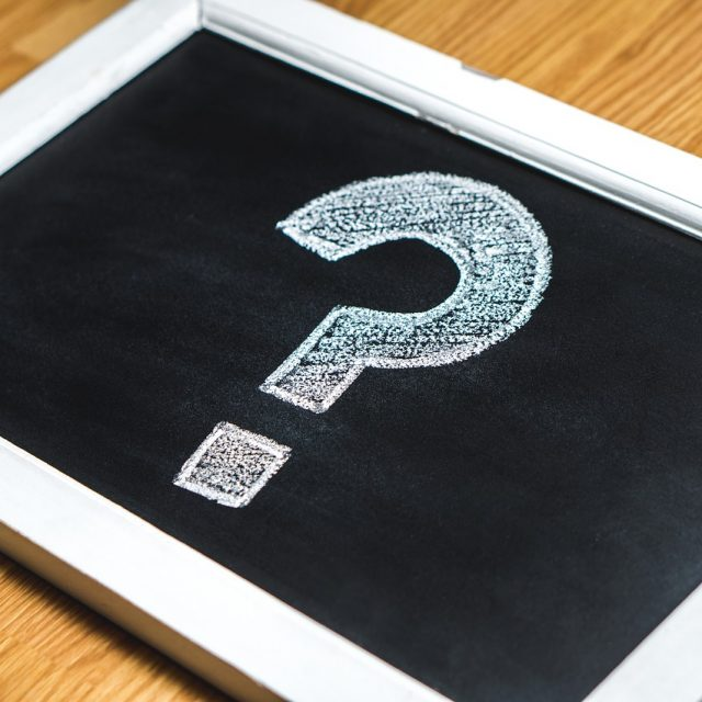 question mark on a tablet to describe eye care questions