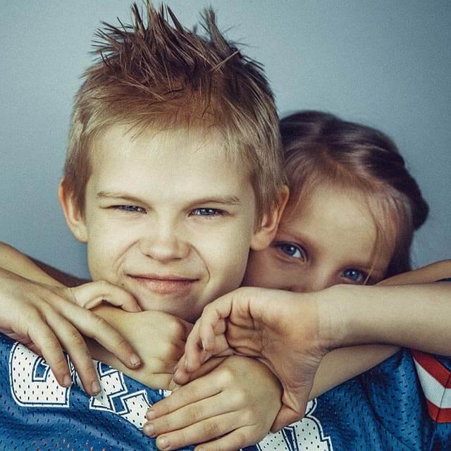 2 kids before peditric eye exam in Twinsburg