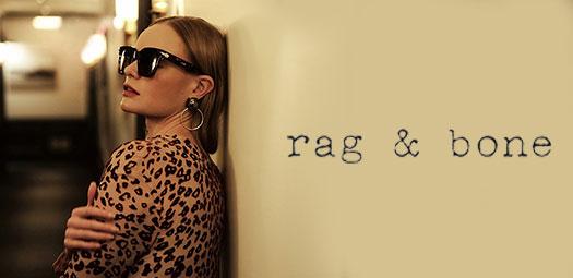 Woman wearing Rag & Bone eyeglasses