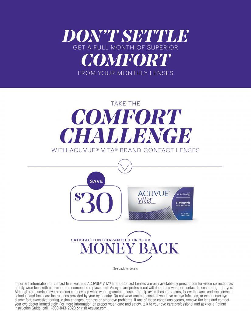 ACUVUE VITA Comfort Challenge