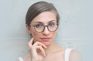 woman wearing stylish eyewear