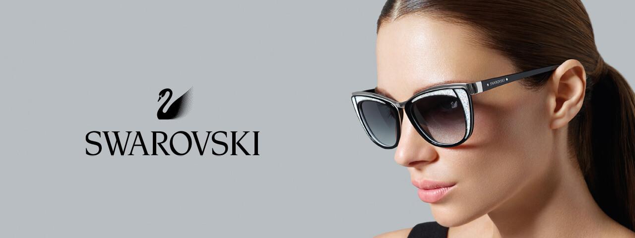 Woman wearing Swarovski Designer Eyeglass Frames