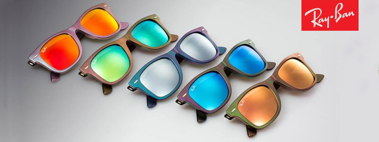 Ray Ban sunglasses in various colors