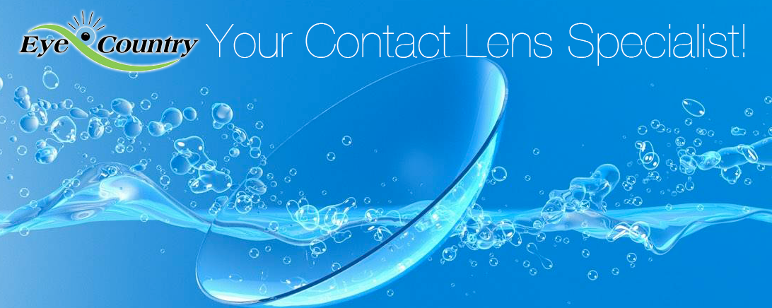 Contact lens floating in water