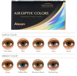 Air Optix color contacts