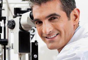 smiling eye doctor