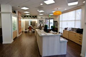 Front office of our eye care clinic
