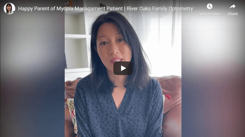 Happy Parent of Myopia Managament Patient River Oaks Family Optometry YouTube
