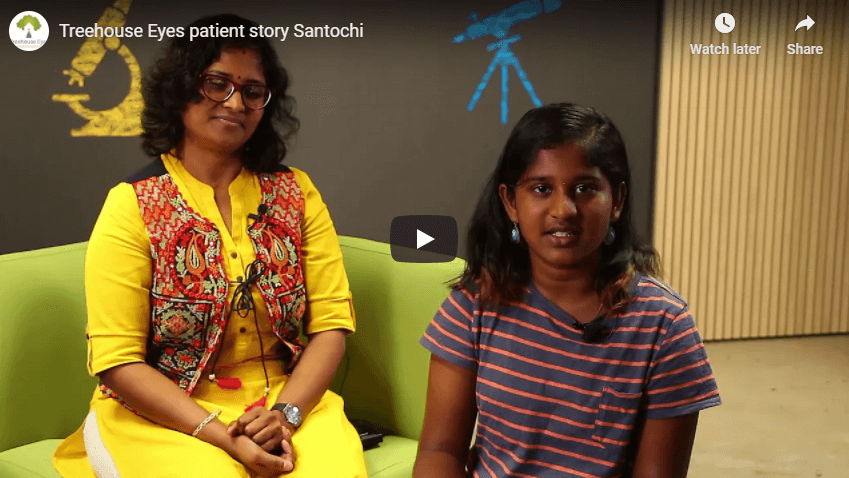 Treehouse Eyes patient story Santochi YouTube