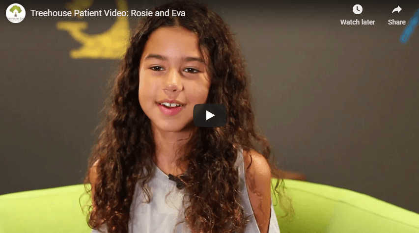 Treehouse Patient Video Rosie and Eva YouTube