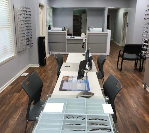 opticians desk