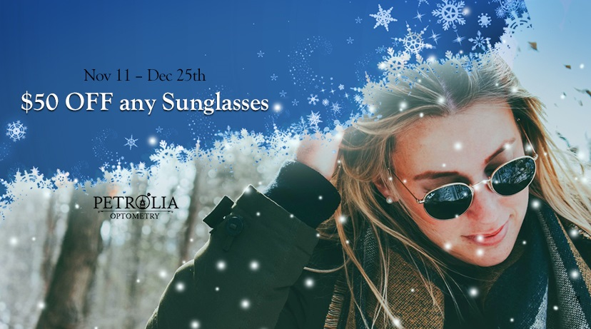 Petrolia Optometry Winter sunglasses sale optical shop in Petrolia ON