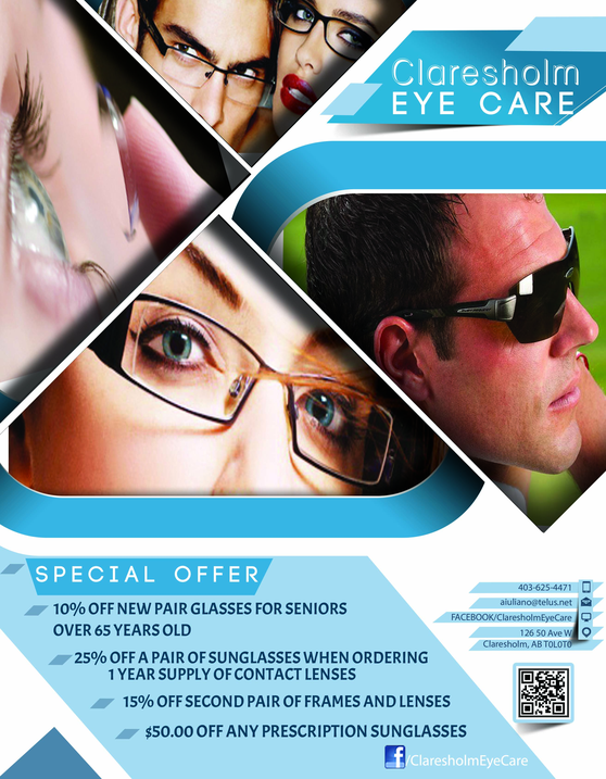 Claresholm Glasses Flyer rs