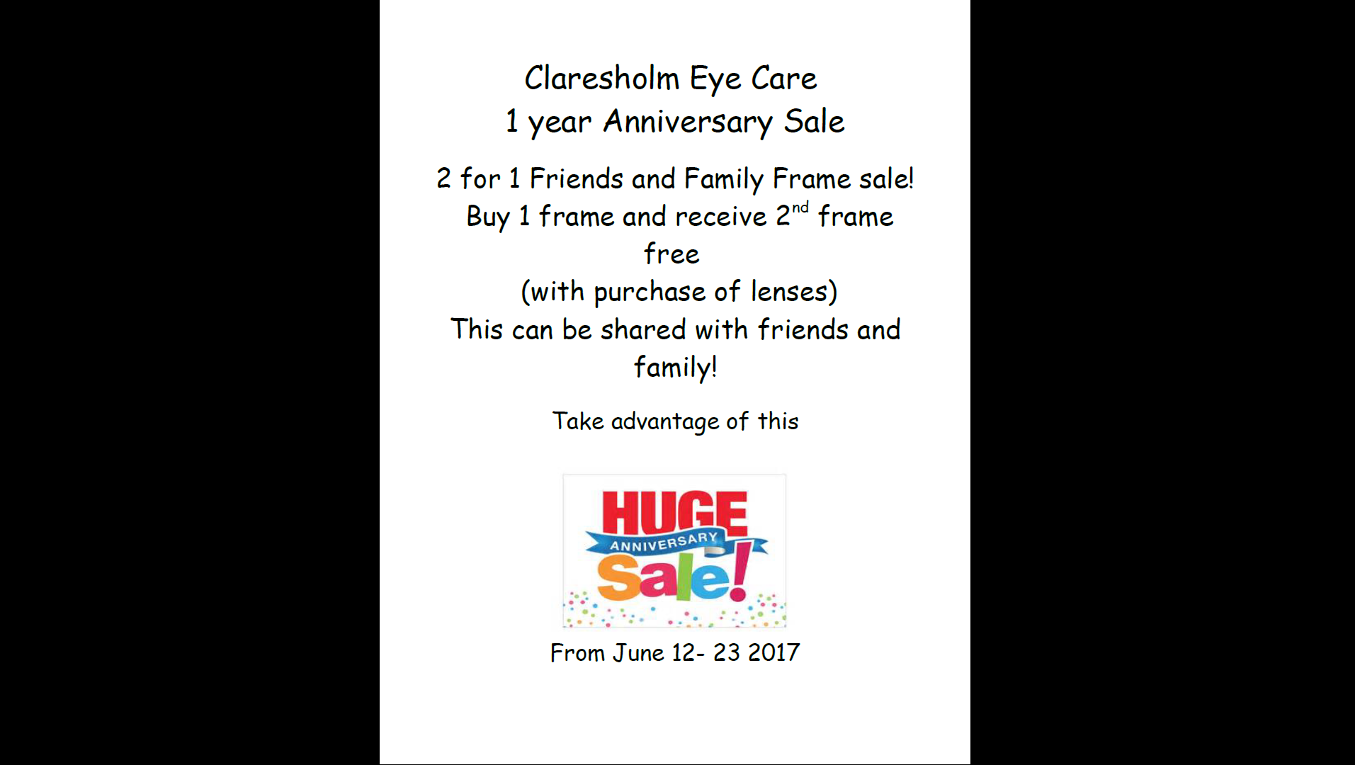 anniversery sale
