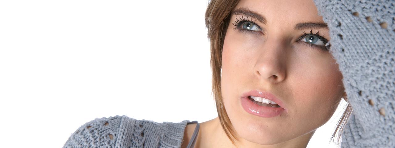 Woman Tired Blue Eyes 1280x480