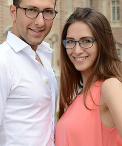 Couple wearing VANNI eyeglasses in Hot Springs, Arkansas