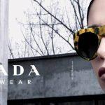 Woman Wearing Prada Designer Eyeglass Frames