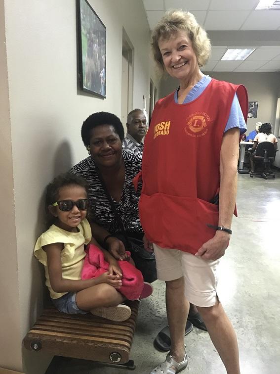 Patients and volunteer Eye Doctor in Fiji
