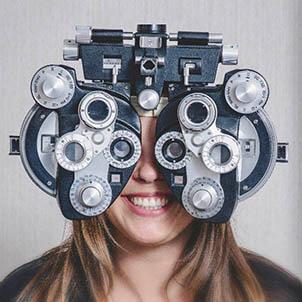 eye exam bubble