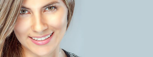 Eye doctor, woman wearing contact lenses in Palo Alto, California
