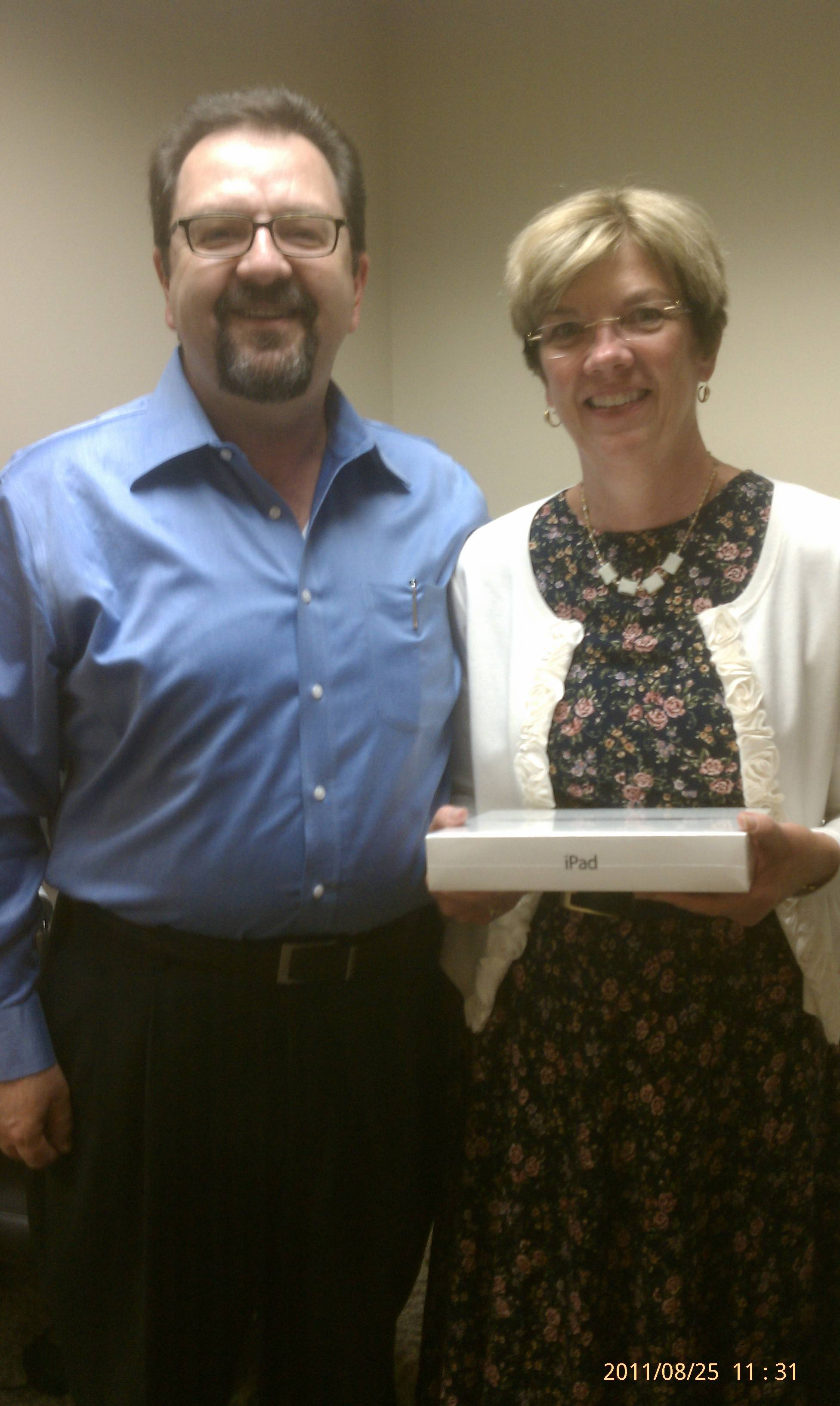 Mary is now the proud owner of an iPad 2