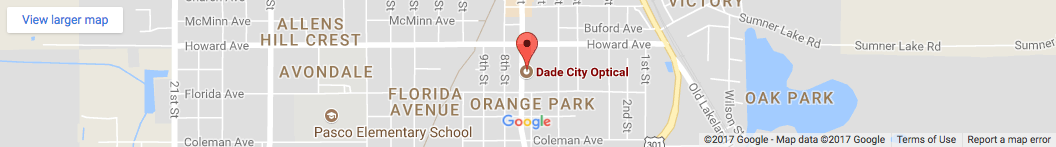 Map Dade city eyecare in FL