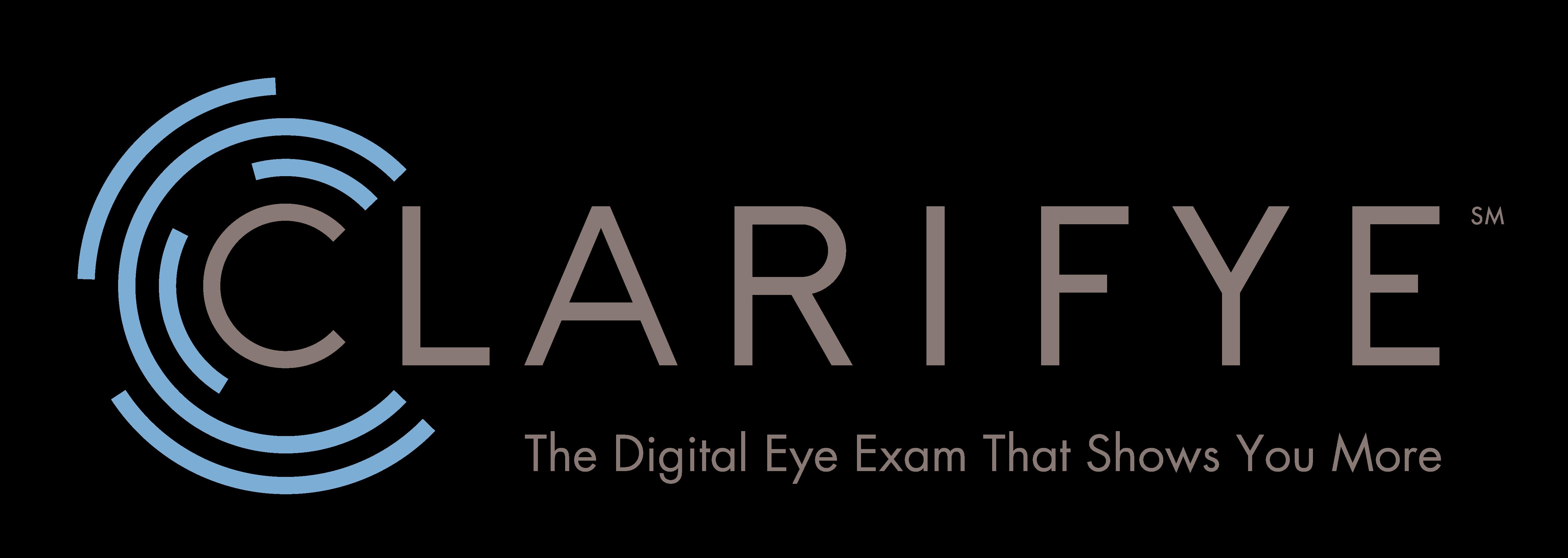 Eye doctor, Clarifye Eye Exam banner in Akron, OH