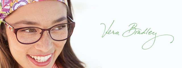Optometrist, woman wearing Vera Bradley eyeglasses in Tupelo, MS