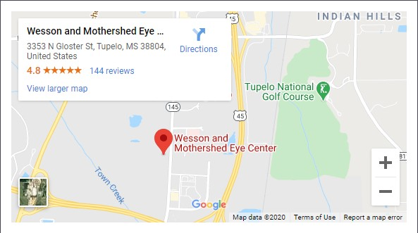 Wesson and Mothershed Eye Center Map