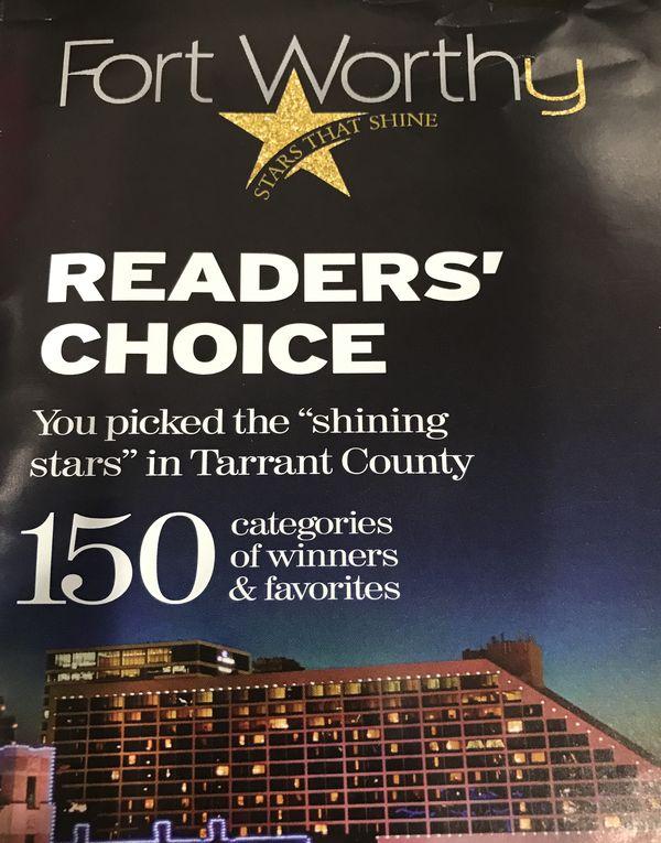 Eagle Mountain readers choice award fort worth tx