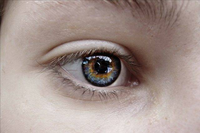 Close up of hazel eye