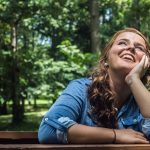 eye care, woman looking sky in Potomac, MD